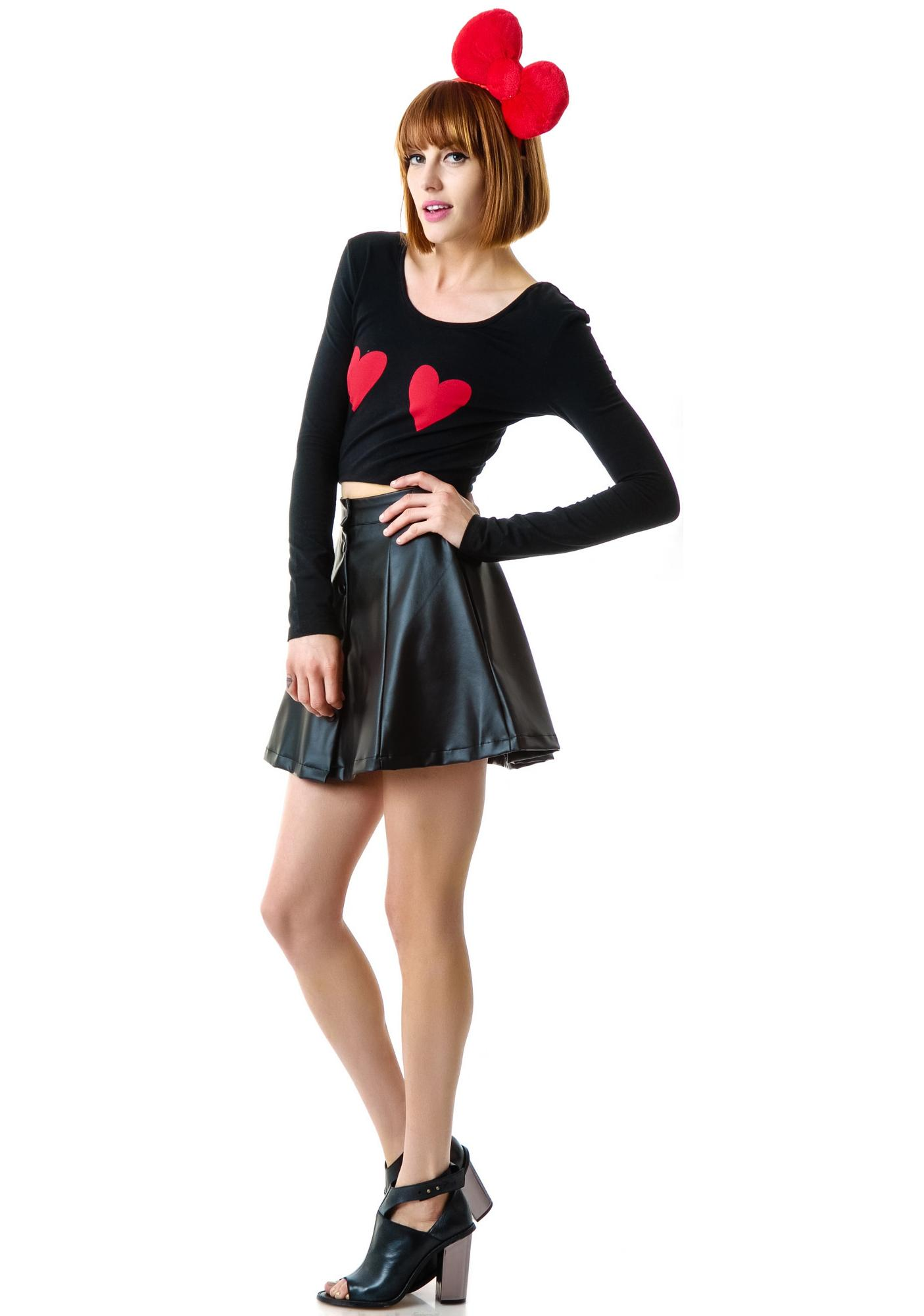 Lazy Oaf Heart Boobs Bodycon Crop