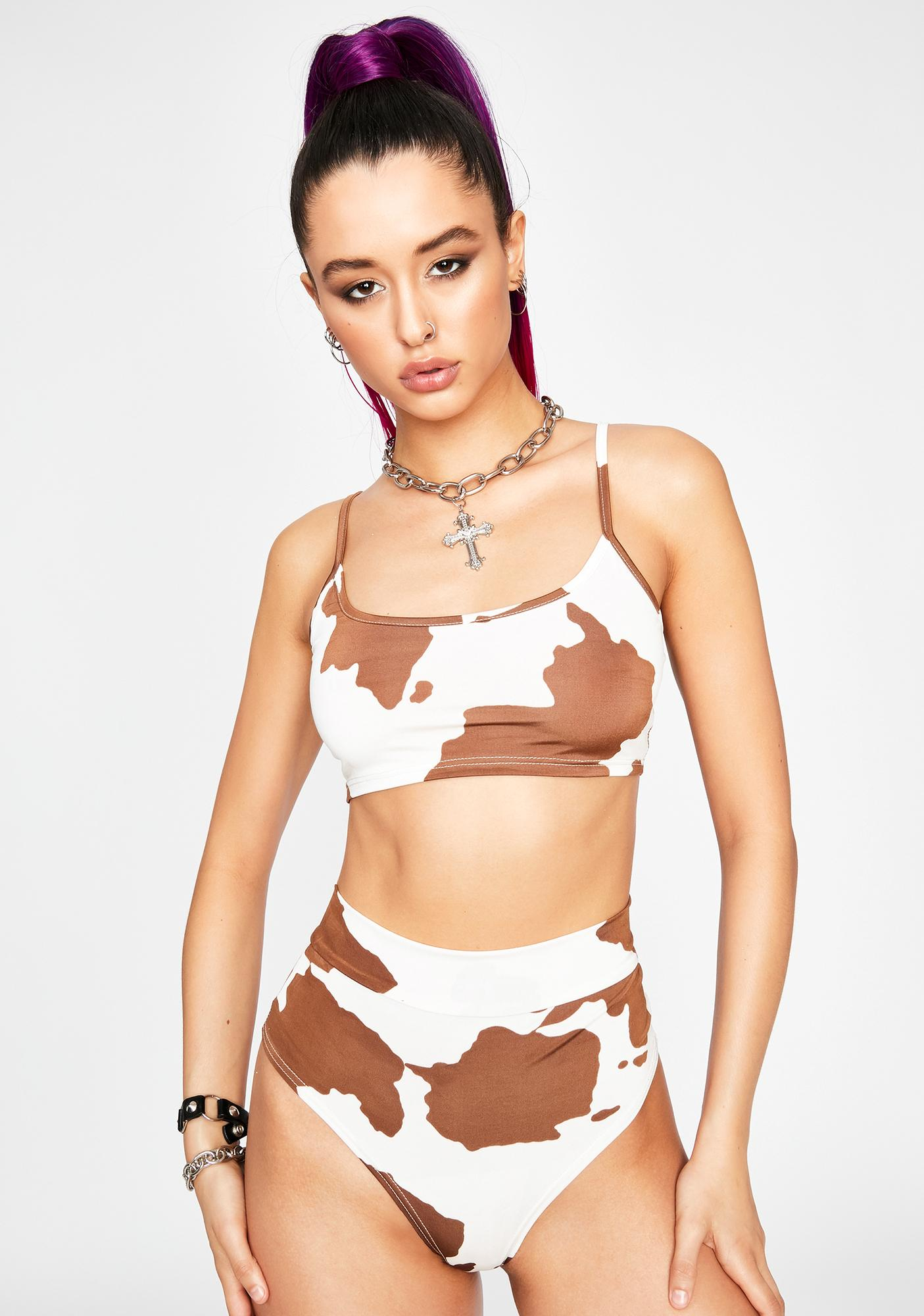 Chocolate My Milkshake Hot Shorts Set