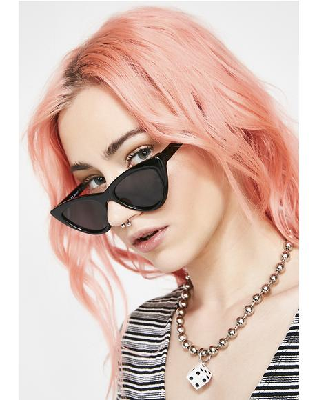 Dark Oh So Naughty Cat-Eye Sunglasses