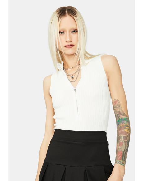 Bliss Favorite By Far Zip Up Tank Top