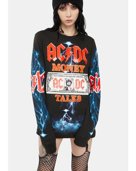 ACDC Money Talks Long Sleeve Tee
