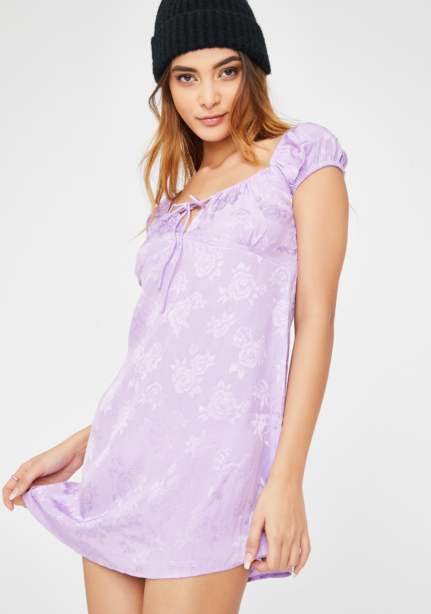 Motel Lilac Rose Gaval Dress