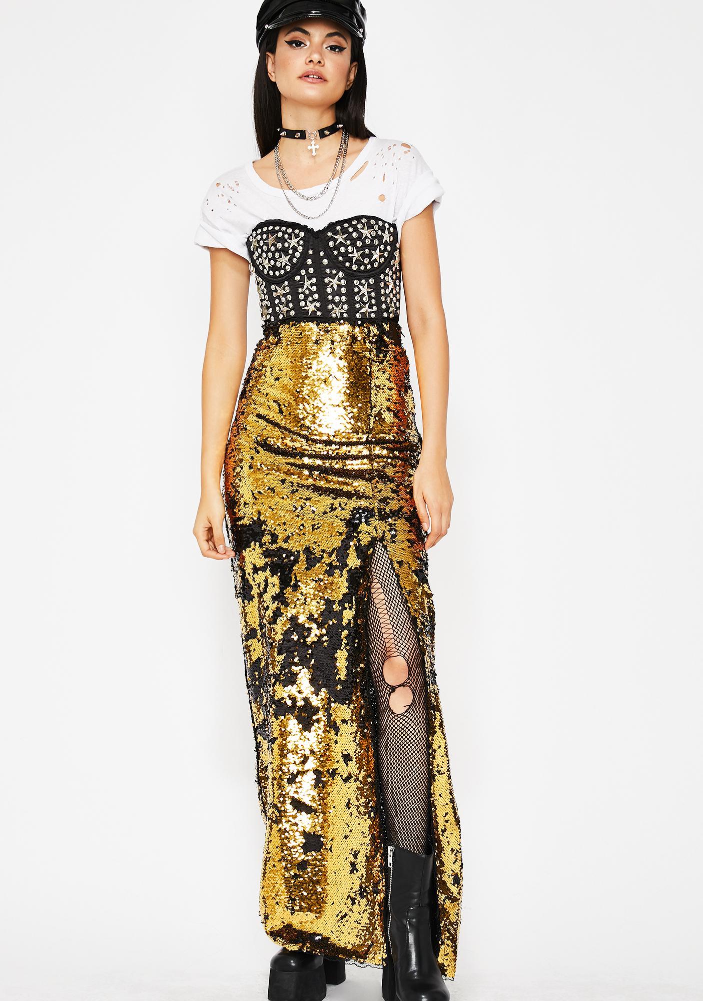 Kiki Riki Goldie Forever Shinin' Sequin Skirt
