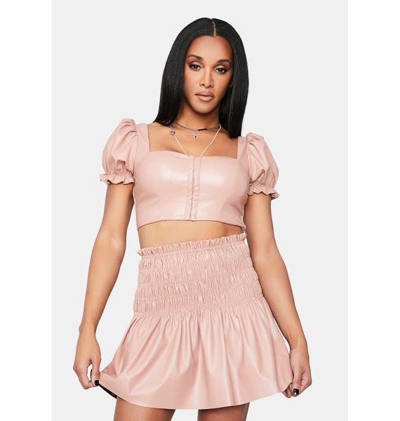 Flirt Already Been There Smocked Waist Skater Skirt