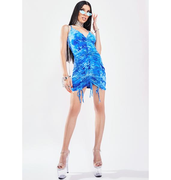 Indigo Outta Here Ruched Dress