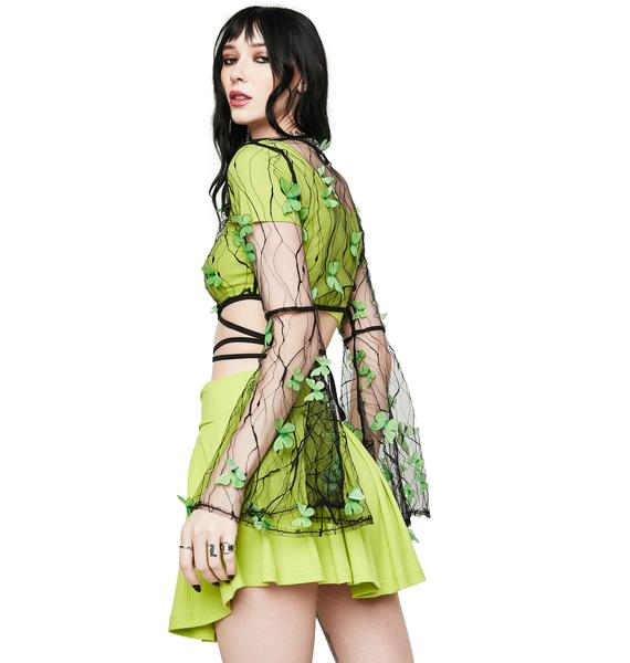 Envy Fairy Haven Sheer Butterfly Wrap Top