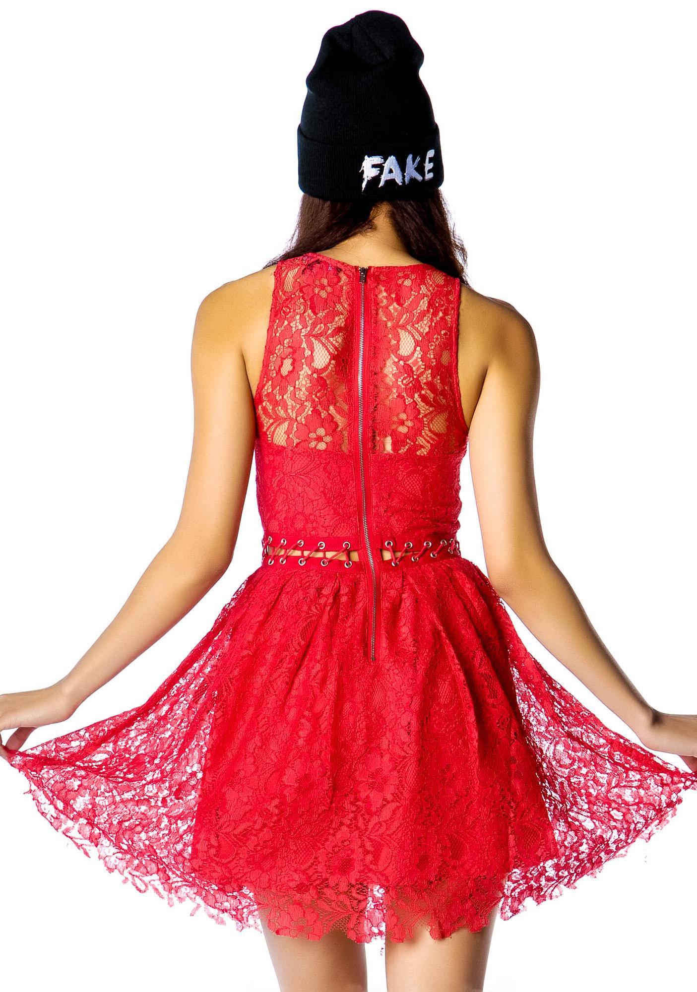 Stylestalker Love Me Do Me Lace Up Dress