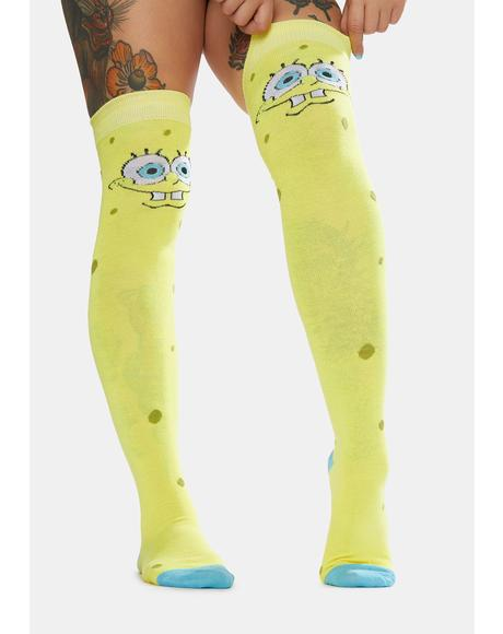 Spongebob Squarepants Knee Socks