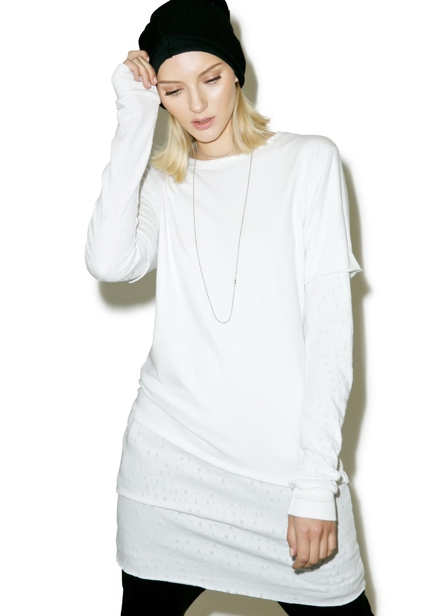 Drifter Ivory Dawson Double Layered Top