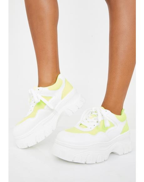 Electric Insta Pop Platform Sneakers