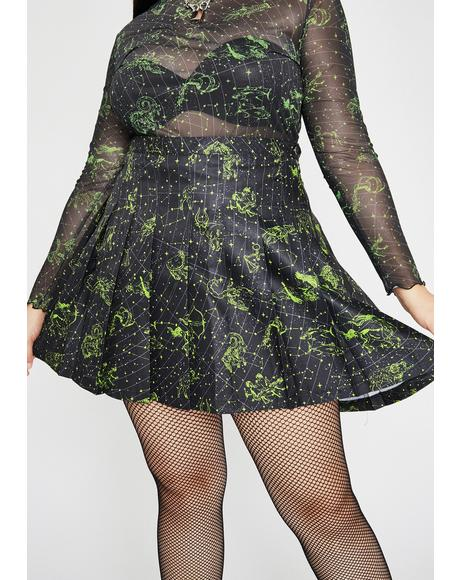 Her Divine Line Pleated Skirt
