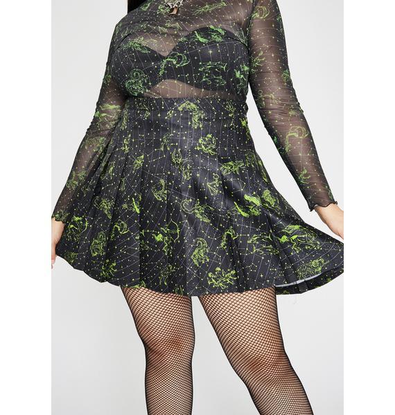 HOROSCOPEZ Her Divine Line Pleated Skirt