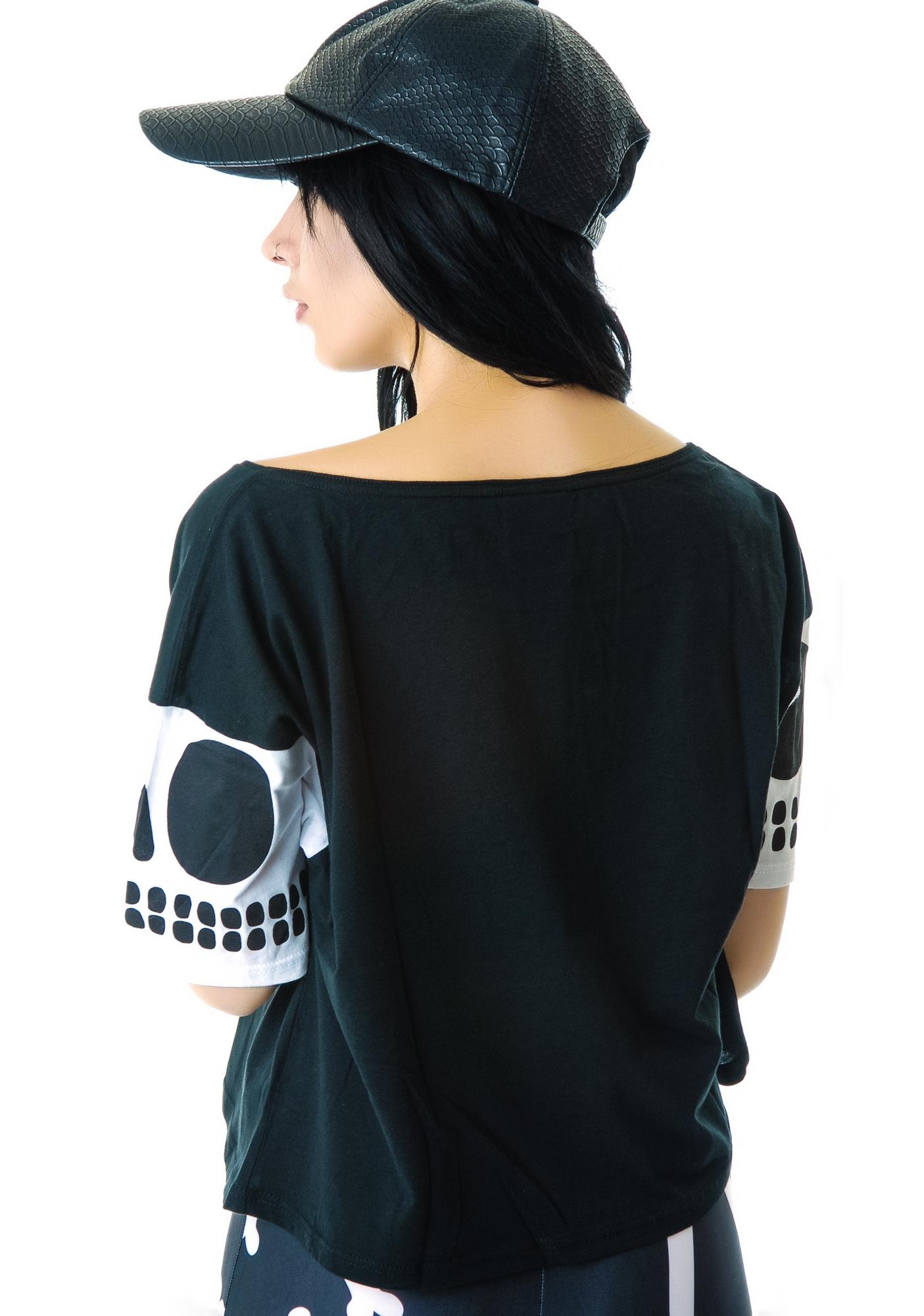 Lazy Oaf Dead Inside Crop T-Shirt