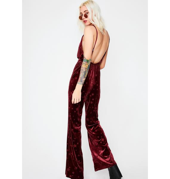 Starry Eyed Velvet Jumpsuit