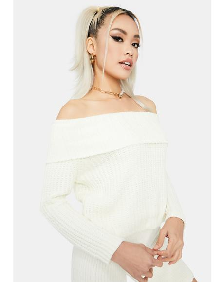 Cold Weather Off The Shoulder Sweater