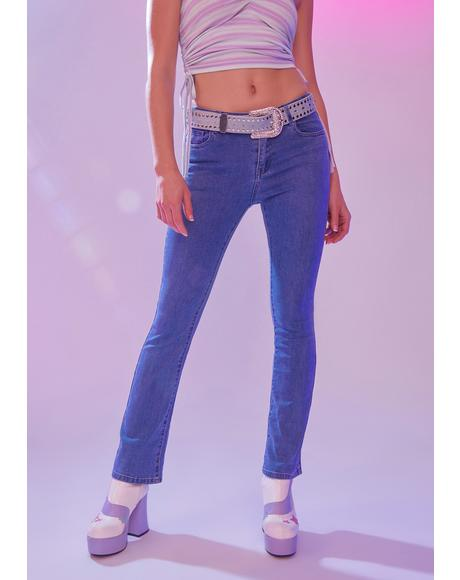 Shoot For The Stars Flare Jeans