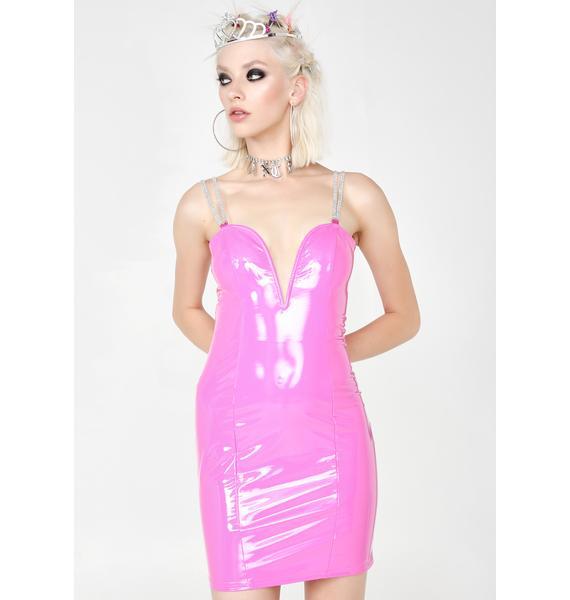 Sugar Thrillz Pageant Queen Vinyl Dress