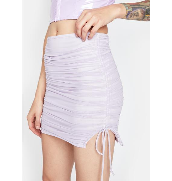 Pixie Got Ur Number Ruched Skirt