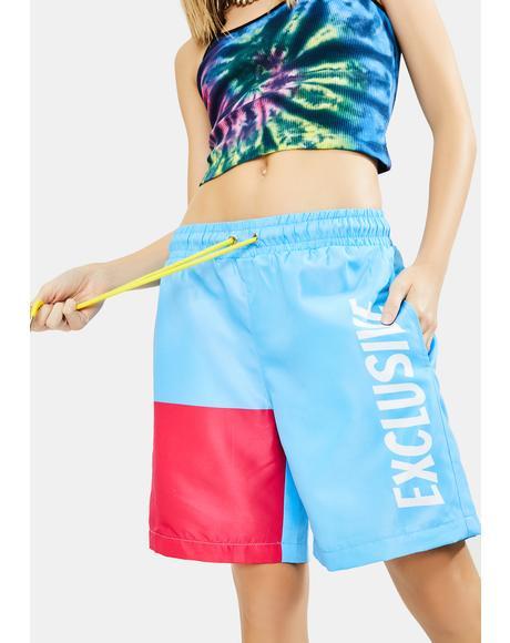 Exclusive Colorblock Shorts
