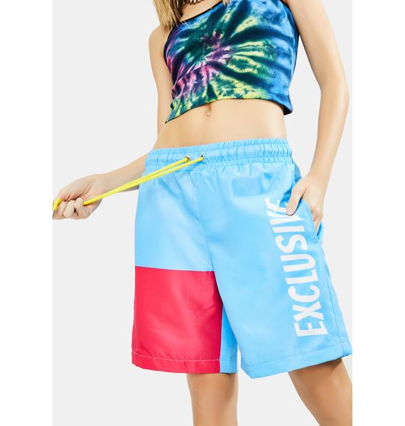 EXCLUSIVE DELIVERY CO. Exclusive Colorblock Shorts