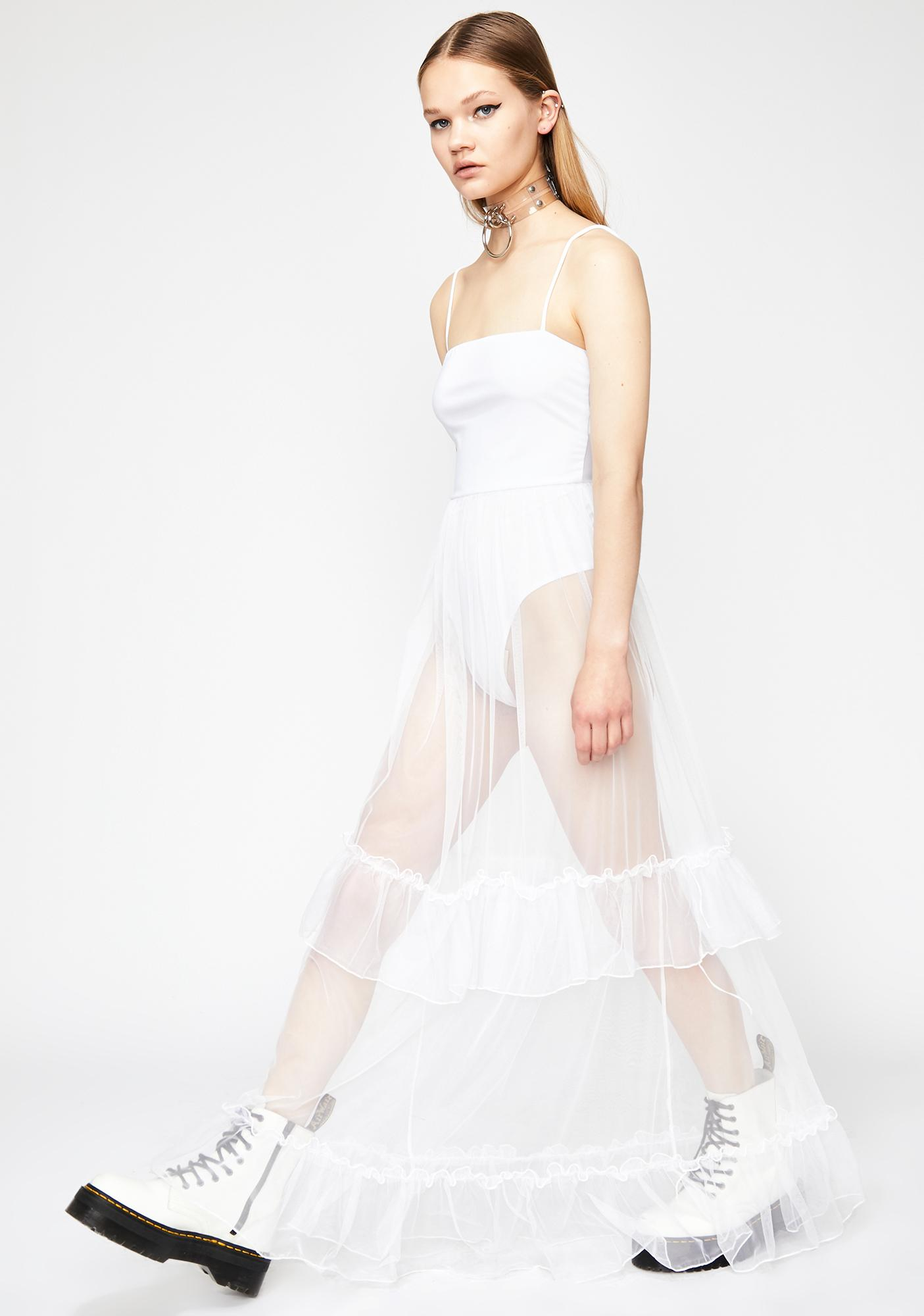 Pure Defiant Love Tulle Maxi Dress