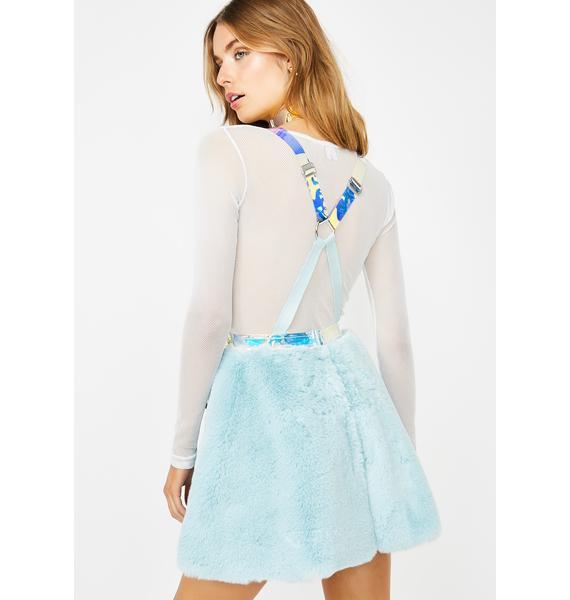 Club Exx Glacier Gurl Hologram Overall Dress