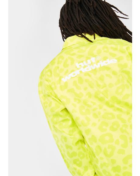 Neo Leopard Coach Jacket