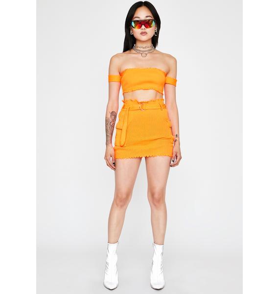 Mimosa Clap Back Queen Skirt Set