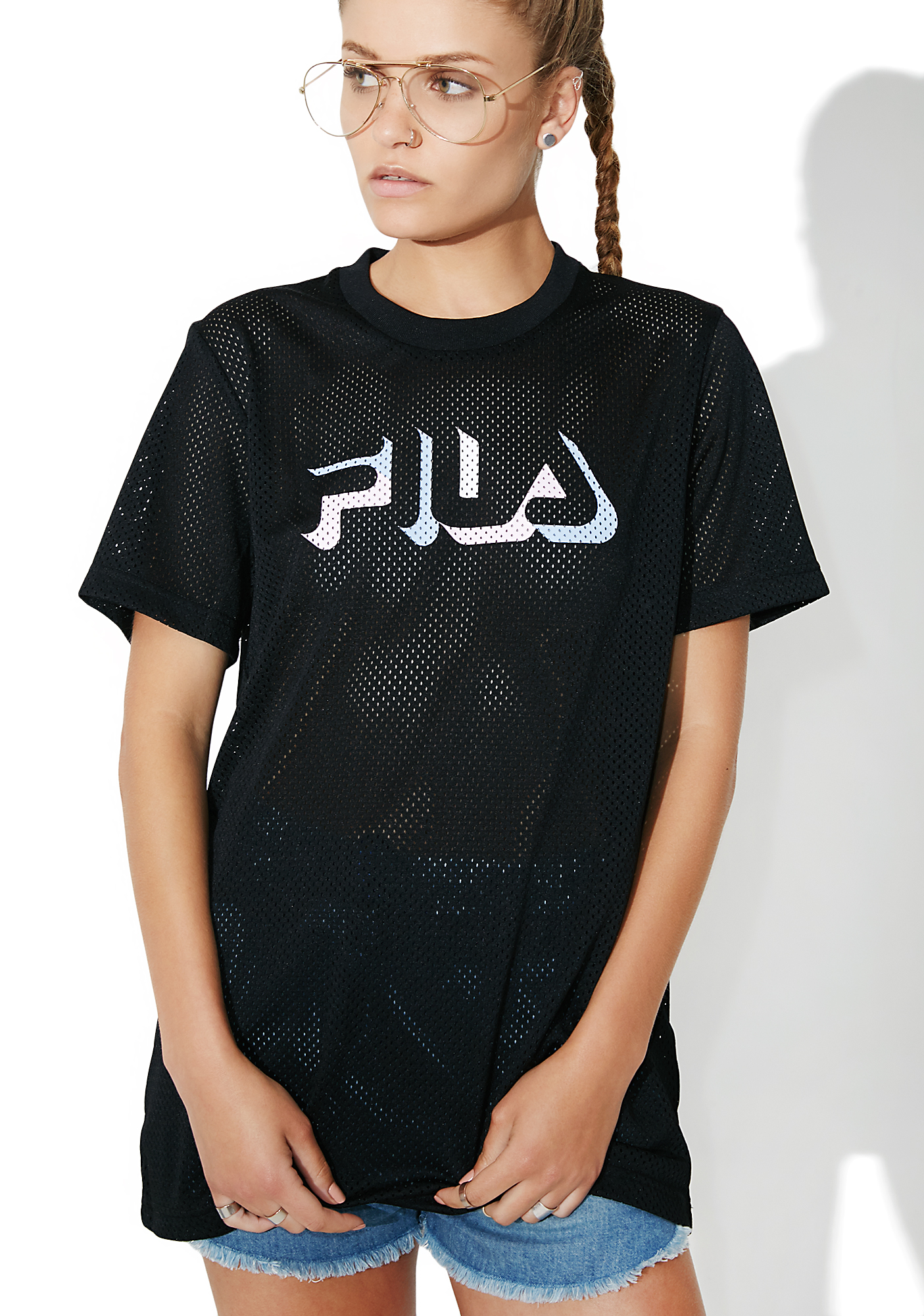 Fila Midnight Liona Mesh T-Shirt