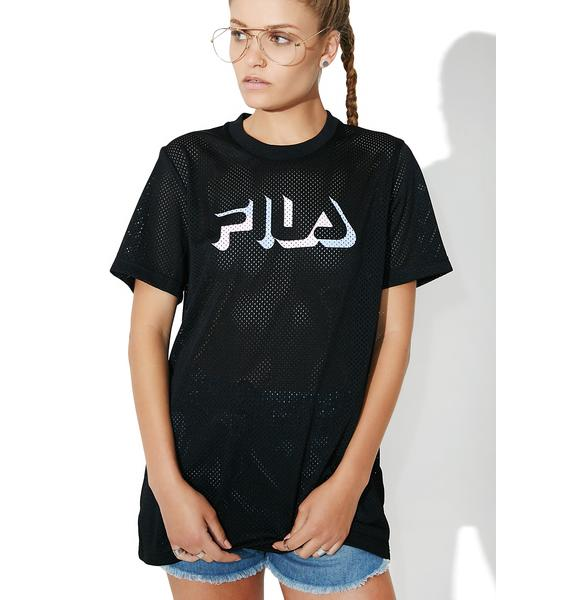 Fila Midnight Liona Mesh T-Shirt