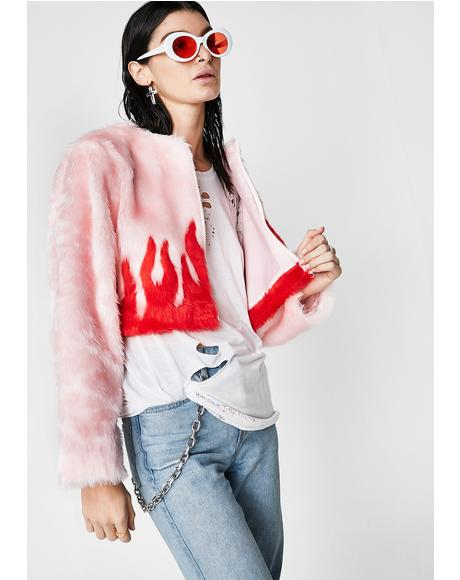 Woke Cropped Fur Jacket