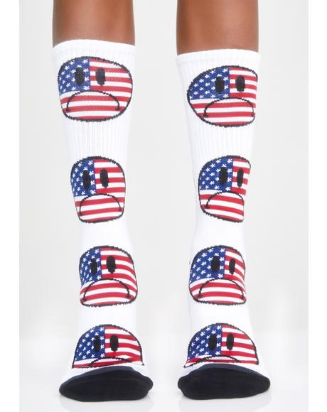 Bummer USA Crew Socks