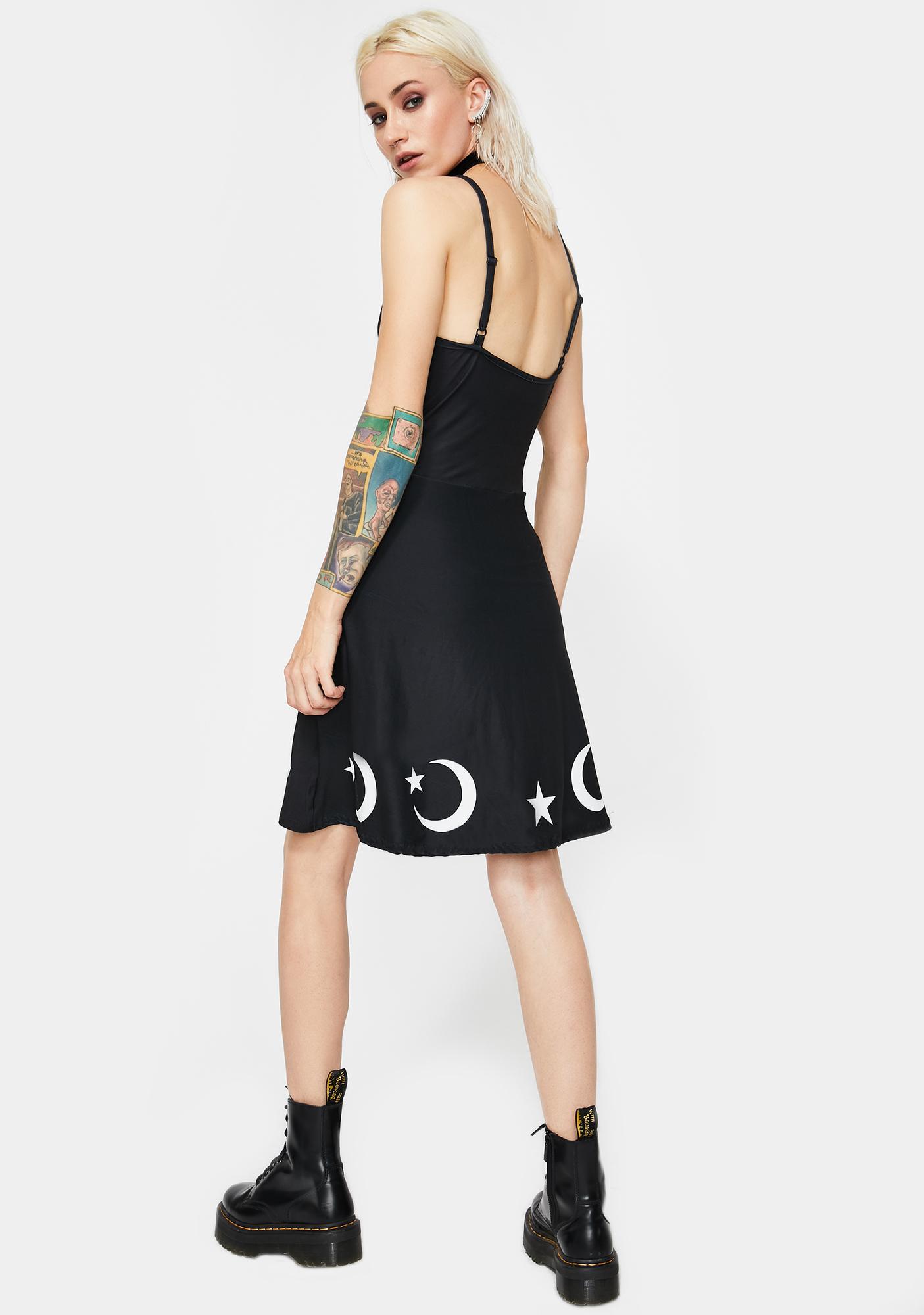 Too Fast Moons N' Stars Skater Dress