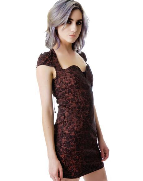 Scarlette Open Back Lace Up Dress