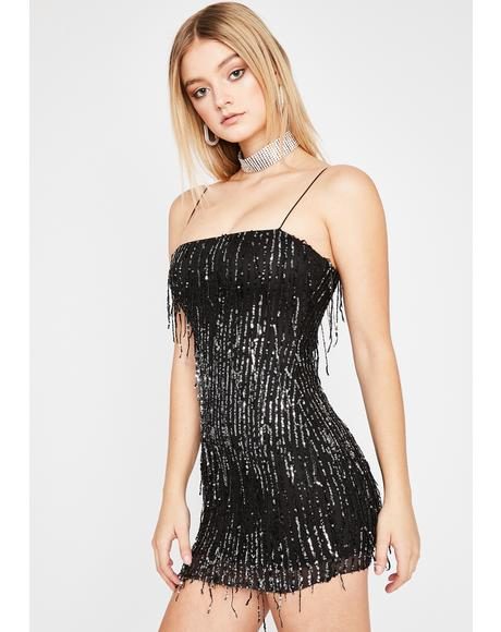 Drippin' Noir Glitz N' Glam Mini Dress