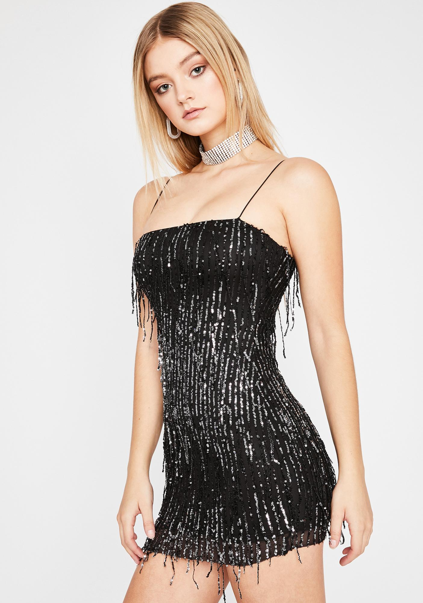 Drippin' Noir Glitz N' Glam Mini Dress