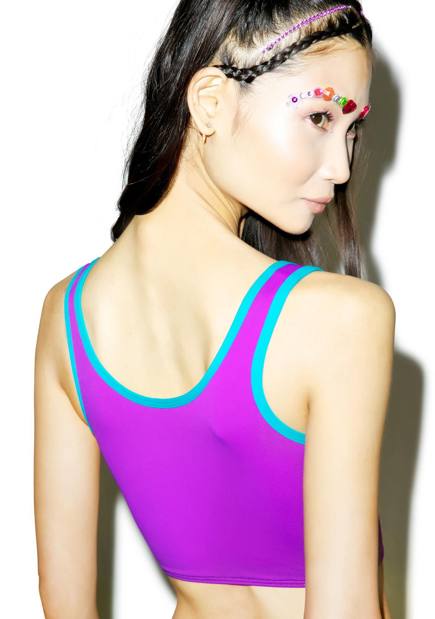 Mandalynn Swim Purple Sport Swim Top