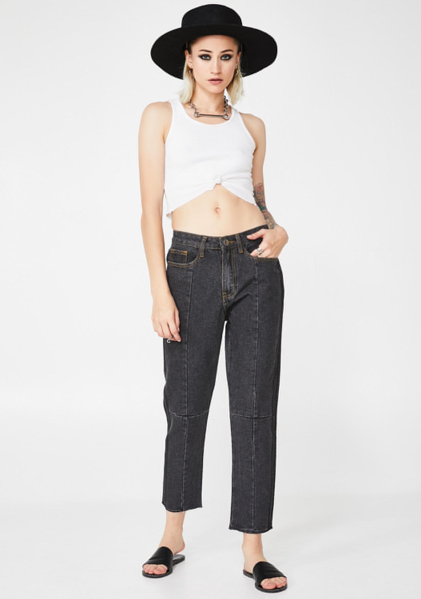 Momokrom Crop High Waist Jeans