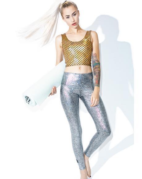 Silver Hologram Leggings