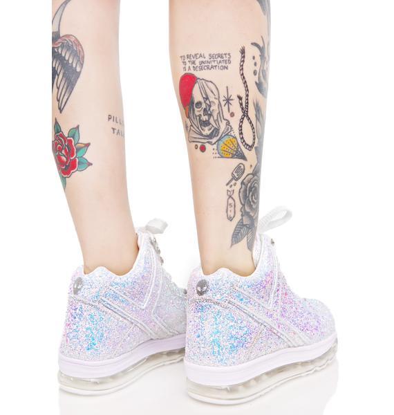 Y.R.U. Qozmo Aiire Glitter Sneakers