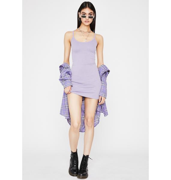 Grape Effortless Slay Mini Dress