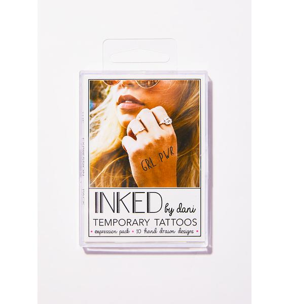 INKED by Dani The Expression Temporary Tattoo Pack