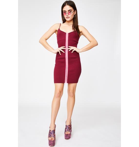 For Love & Lemons Paige Hook N' Eye Mini Dress