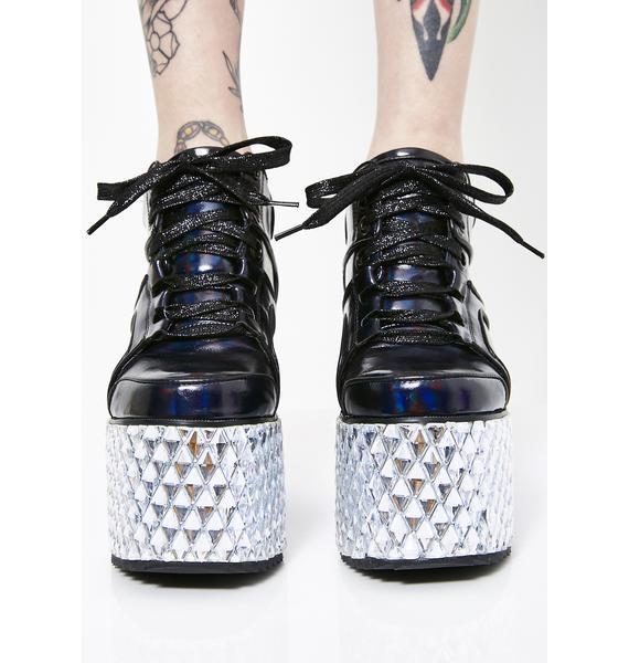 Club Exx Onyx Glamtronic Platform Sneakers