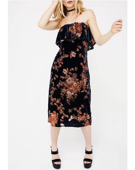Pullin' Petals Burnout Dress