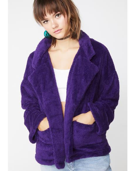 Some Type Of Way Fuzzy Jacket