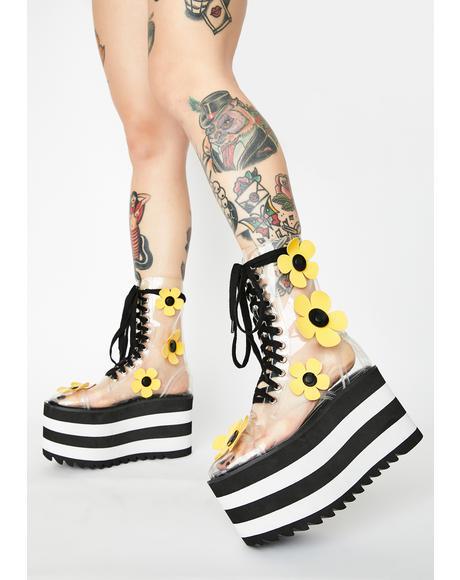 Wildflower Wonderland Clear Boots