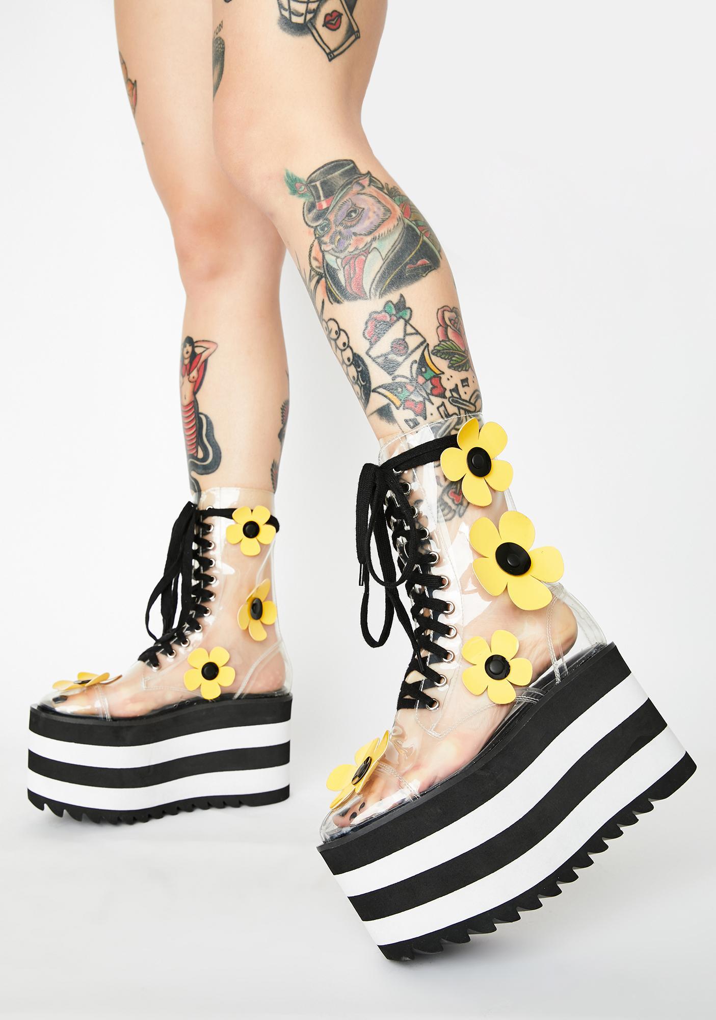Current Mood Wildflower Wonderland Clear Boots