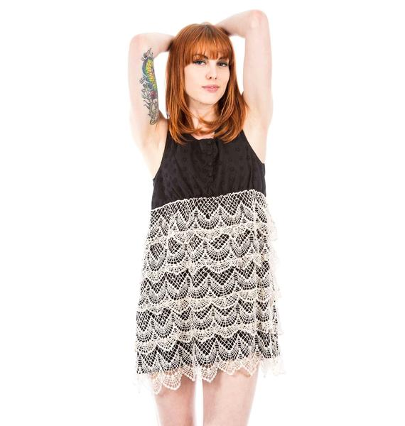Under The Table Lace Mini Dress
