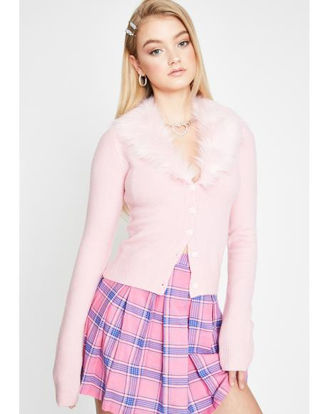 Social Status Faux Fur Sweater